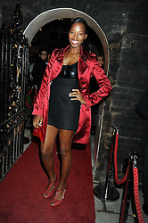 Singer JAMELIA at a party to celebrate the opening of the new home of Alfred Dunhill at Bourdon House, 2 Davies Street, London on 16th September 2008.