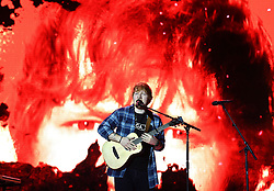 Review of the Year 2017: December: Ed Sheeran on stage during day two of Capital's Jingle Bell Ball 2017 with Coca-Cola at the O2 Arena, London.