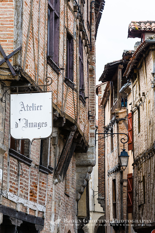 France, Cahors. Very old buildings.