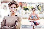 Yoga portrait - Angela Schijf