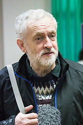"""Finsbury Park Mosque, London, February 7th 2016. Labour leader and local MP Jeremy Corbyn pictured at Finsbury Park Mosque during the Visit My Mosque initiative by the Muslim Council of Britain to show non-Muslims """"how Muslims connect to God, connect to communities and to neighbours around them"""".<br /> . ///FOR LICENCING CONTACT: paul@pauldaveycreative.co.uk TEL:+44 (0) 7966 016 296 or +44 (0) 20 8969 6875. ©2015 Paul R Davey. All rights reserved."""