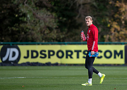 CARDIFF, WALES - Sunday, November 17, 2019: Wales' goalkeeper Adam Davies during a training session at the Vale Resort ahead of the final UEFA Euro 2020 Qualifying Group E match against Hungary. (Pic by David Rawcliffe/Propaganda)