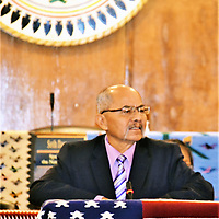 Navajo Nation Council Delegate Nelson BeGaye, who is serving his fifth four-year term, informed the Council Monday that he submitted his letter of resignation to Speaker Seth Damon because of serious health issues.
