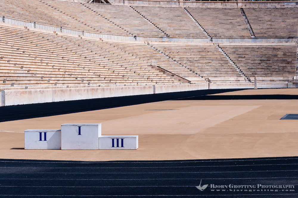 Athens, Greece. The Panathenaic Stadium hosted the first modern Olympic Games in 1896.
