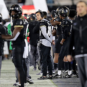 ORLANDO, FL - OCTOBER 03:  Quarterback McKenzie Milton #10 of the Central Florida Knights looks at the scoreboard against the Tulsa Golden Hurricane at Bright House Networks Stadium on October 3, 2020 in Orlando, Florida. (Photo by Alex Menendez/Getty Images) *** Local Caption *** McKenzie Milton