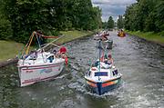 Jachty na na kanale Łuczańskim