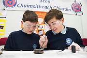 27/11/2016 REPRO FREE:  <br />  Niall Seoige and Padraog O Lochlainn, Carraroe, in NUI Galway for the exhibition and fun day day of the Galway Science & Technology Festival. <br /> Photo: Andrew Downes, Xposure.