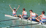 Lucerne, Switzerland. 1995 FISA WC III, Lake Rotsee, Lucerne,<br /> GBR LM8+. Cox Simon DEACON, <br /> [Mandatory Credit. Peter SPURRIER/Intersport Images]<br /> <br /> Image scanned from Colour Negative