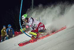 "29.01.2019, Planai, Schladming, AUT, FIS Weltcup Ski Alpin, Slalom, Herren, 1. Lauf, im Bild Marc Digruber (AUT) // Marc Digruber of Austria in action during his 1st run of men's Slalom ""the Nightrace"" of FIS ski alpine world cup at the Planai in Schladming, Austria on 2019/01/29. EXPA Pictures © 2019, PhotoCredit: EXPA/ Dominik Angerer"