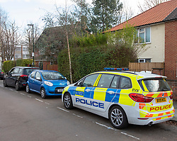 © Licensed to London News Pictures. 06/01/2020. London, UK. Police presence outside a house in Nowell Road, Barnes South West London after police discovered human remains at the address on Friday 3rd January 2020. A 17 year old youth has been charged with murder following the discovery at the address in Nowell Road. Photo credit: Alex Lentati/LNP