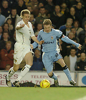 Fotball<br /> England 2004/2005<br /> Foto: SBI/Digitalsport<br /> NORWAY ONLY<br /> <br /> Coca-Cola Championships<br /> 03/01/2005.<br /> <br /> Coventry City v Leeds United<br /> <br /> Coventrys Gary McSheffrey takes on Matthew Kilgallon