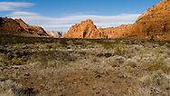 Snow Canyon State Park outside St. George, Utah.  The petrified sand dunes were originally deposited more than 183 million years ago and then covered with a layer of lava from a few million years ago to 50,000 years ago.
