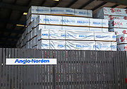 Anglo-Norden timber merchants warehouse, Wet Dock, Ipswich, Suffolk, England, UK