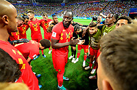 Kazan, Russia - July 6 : Romelu Lukaku forward of Belgium during the FIFA 2018 World Cup Russia Quarter-final match between Brazil and Belgium at the Kazan Arena Stadium on July 6, 2018 in Kazan, Russia, 6/07/2018<br /> Brasil - Belgia