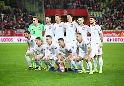 November 15, 2018 - Gdansk, Pomorze, Poland - Poland national football team  during the international friendly soccer match between Poland and Czech Republic at Energa Stadium in Gdansk, Poland on 15 November 2018  (Credit Image: © Mateusz Wlodarczyk/NurPhoto via ZUMA Press)