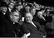 04/09/1960<br /> 09/04/1960<br /> 4 September 1960 <br /> All-Ireland Final: Tipperary v Wexford at Croke Park, Dublin.<br /> Rev. Dr. Thomas Morris, Archbishop of Cashel (left) and President Éamon de Valera (Right) at the final.