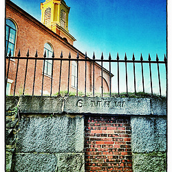 """St. John's Church in Portsmouth, New Hampshire. iPhone photo - suitable for print reproduction up to 8"""" x 12""""."""