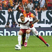 Galatasaray's Dany Achille Nounkeu Tchounkeu (B) during their Turkish superleague soccer derby match Galatasaray between Trabzonspor at the AliSamiYen spor kompleksi TT Arena in Istanbul Turkey on Saturday, 18 May 2013. Photo by Aykut AKICI/TURKPIX