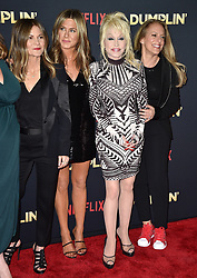 Jennifer Aniston and Dolly Parton attend the premiere of Netflix's 'Dumplin'' at TCL Chinese 6 Theatres on December 6, 2018 in Los Angeles, CA, USA. Photo by Lionel Hahn/ABACAPRESS.COM
