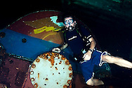 Steven Smeltzer in Engineering, USS Kittiwake, Grand Cayman