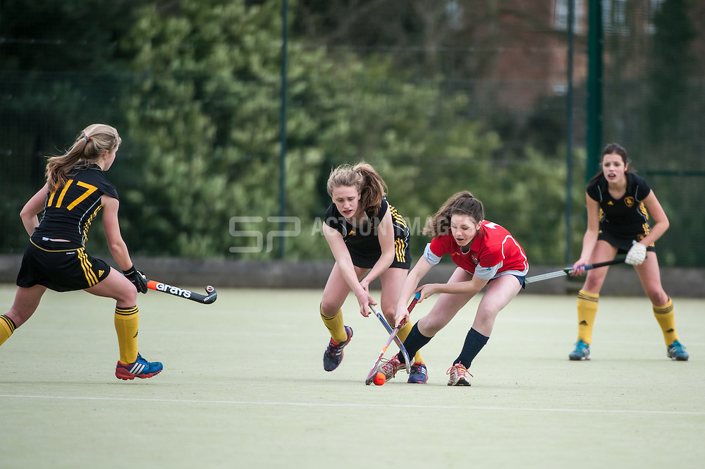 Cambridge City v Beeston, Hockerill College, Bishop's Stortford, UK on 02 March 2014. Photo: Simon Parker