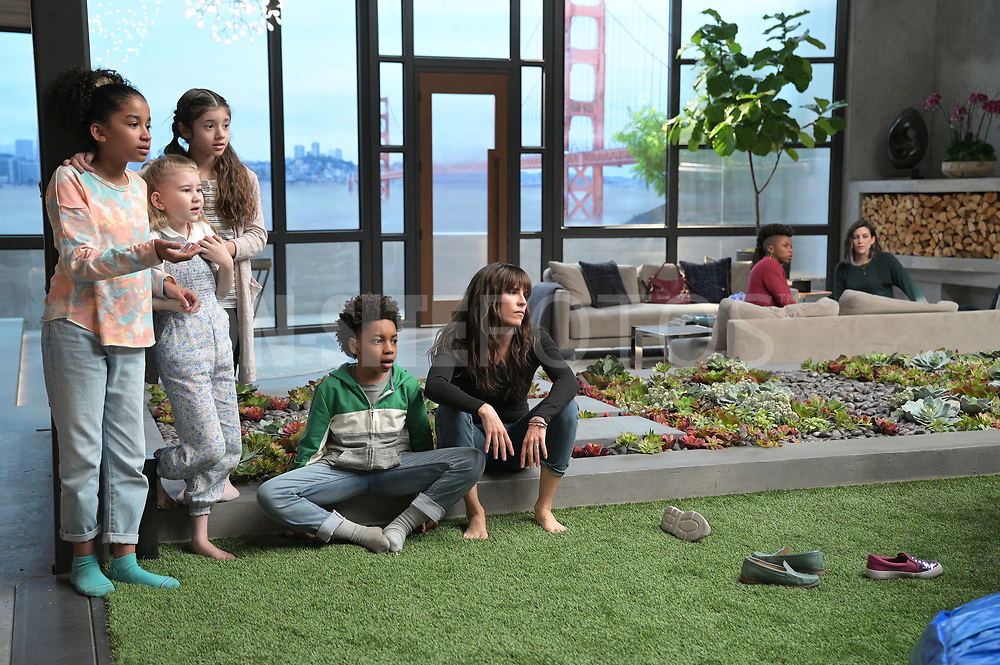 """HOME ECONOMICS - """"Bounce House Rental, $250"""" – Connor invites all the cousins over for an epic sleepover to cheer up his daughter, Gretchen. Meanwhile, Tom is determined to prove he can be a fun uncle too on """"Home Economics,"""" WEDNESDAY, APRIL 21 (8:30-9:00 p.m. EDT), on ABC. (ABC/Temma Hankin)<br /> JORDYN CURET, SHILOH BEARMAN, CHLOE JO ROUNTREE, JECOBI SWAIN, KARLA SOUZA"""