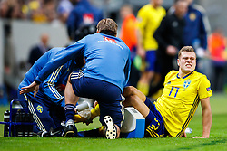 November 20, 2018 - Stockholm, SVERIGE - 181120 Viktor Claesson of Sweden is in pain during the Nations League football match between Sweden and Russia on November 20, 2018 in Stockholm. (Credit Image: © Andreas L Eriksson/Bildbyran via ZUMA Press)