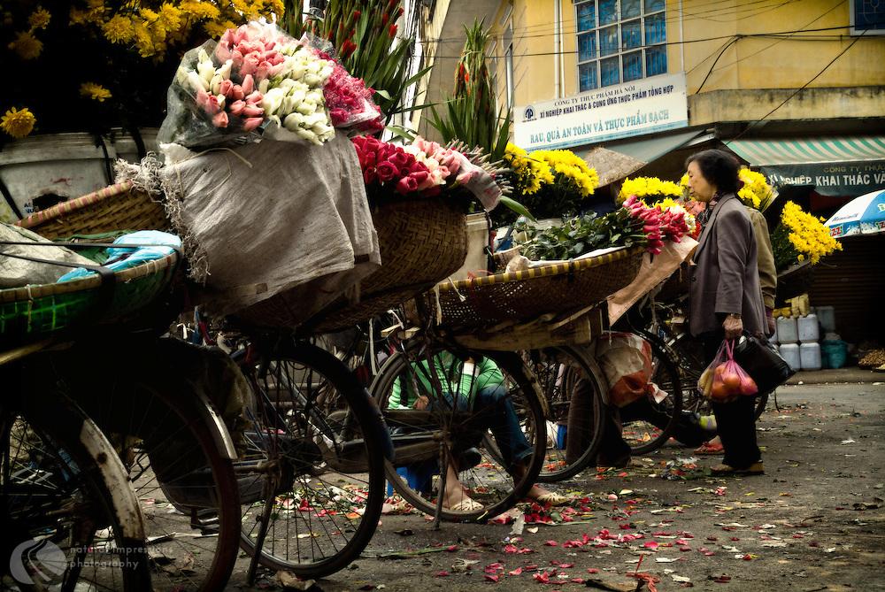 Hanoi Vietnam, Flower Ladies