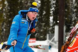 March 16, 2019 - –Stersund, Sweden - 190316 Wolfgang Pichler, head coach of Sweden at the Women's 4x6 km Relay during the IBU World Championships Biathlon on March 16, 2019 in Östersund..Photo: Johan Axelsson / BILDBYRÃ…N / Cop 245 (Credit Image: © Johan Axelsson/Bildbyran via ZUMA Press)