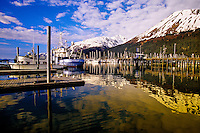 Harbor at Seward, Alaska USA