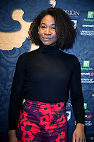 Karen Bryson at the Press Conference for the Gold Movie Awards, announcing nominees for the awards to held on 9th January. Regent St Theatre London. 13.12.19