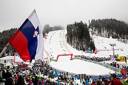 Finish area during the 2nd Run of 10th Men's Slalom race of FIS Alpine Ski World Cup 55th Vitranc Cup 2016, on March 6, 2016 in Podkoren, Kranjska Gora, Slovenia. Photo by Vid Ponikvar / Sportida