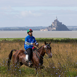 Ali Khalfan Al Jahouri, (UAE), Moota Haddeea - Endurance - Alltech FEI World Equestrian Games™ 2014 - Normandy, France.<br /> © Hippo Foto Team - Leanjo de Koster<br /> 25/06/14