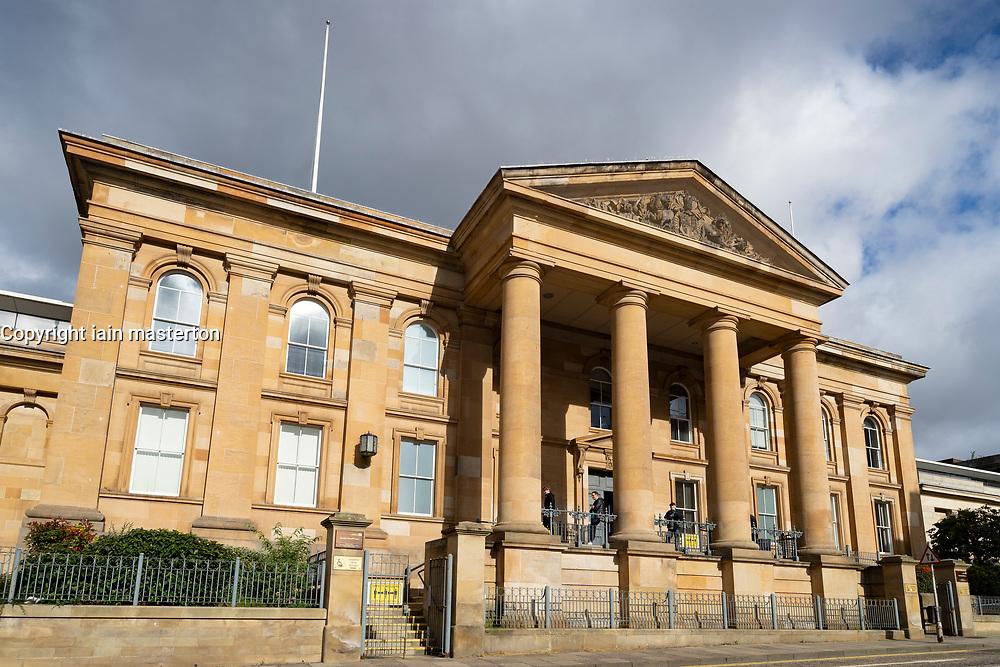 Exterior of Dundee Sheriff Court, Tayside, Scotland, UK