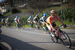 Karol-Ann Canuel (Boels-Dolmans Cycling Team) descends in the second, short lap of Trofeo Alfredo Binda - a 123.3km road race from Gavirate to Cittiglio on March 20, 2016 in Varese, Italy.