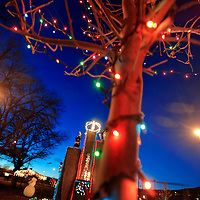 121312  Adron Gardner<br /> <br /> Christmas lights illuminate Fire and Ice Park at twilight in Grants Thursday.