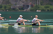 Aiguebelette, FRANCE.  GBR W2X. bow Frances HOUGHTON and Victoria THORNLEY. A  Finals at the  .  13:25:16  Sunday  22/06/2014. [Mandatory Credit; Peter Spurrier/Intersport-images]