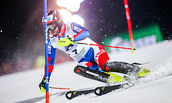 26.01.2016, Planai, Schladming, AUT, FIS Weltcup Ski Alpin, Schladming, Slalom, Herren, 1. Durchgang, im Bild Alexander Khoroshilov (RUS) // Alexander Khoroshilov of Russian Federation competes during his 1st run of men's Slalom Race of Schladming FIS Ski Alpine World Cup at the Planai in Schladming, Austria on 2016/01/26. EXPA Pictures © 2016, PhotoCredit: EXPA/ Johann Groder