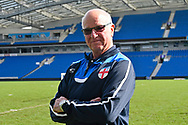 Tommy Charlton of England pitchside before the world's first Walking Football International match between England and Italy at the American Express Community Stadium, Brighton and Hove, England on 13 May 2018. Picture by Graham Hunt.