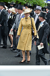 HRH The PRINCESS ROYAL at the 1st day of the Royal Ascot Racing Festival 2015 at Ascot Racecourse, Ascot, Berkshire on 16th June 2015.