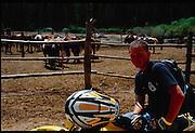 Adam Pratt on his Suzuki DRZ-400 in Red River, NM