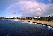 Rainbow, Shipwreck Beack, Hyatt Kauai, Poipu, Kauai, Hawaii<br />