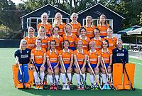BLOEMENDAAL  -  teamfoto~: voor: keeper Mischa Timmerman (Bldaal), Demi Hilterman (Bldaal) , Sterre Bregman (Bldaal), Sanne Caarls (Bldaal) , Fee Schreuder (Bldaal) , Laurien Boot (Bldaal) , Carmel Bosch (Bldaal) , keeper Danique Visser (Bldaal) . midden: Elke Boers (Bldaal) ,  ,Teuntje Horn (Bldaal) , Nine Rijna (Bldaal) , Ankelein Baardemans (Bldaal)  ,Cis van der Salm (Bldaal) , Malou Nanninga (Bldaal) , Pien Molenaar (Bldaal) ,  boven:, Elke Boers (Bldaal) , Sophie Goorhuis (Bldaal), Lilli de Nooijer (Bldaal) ,Annelies Pos (Bldaal) , Joy Haarman (Bldaal) , Pien Tol (Bldaal) ,  .  Dames I HC Bloemendaal, seizoen 2021/2022. COPYRIGHT KOEN SUYK