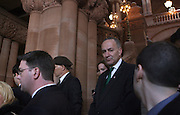 Senator Chuck Schumer at the Mayor Michael Bloomberg press conference about Crane Accident which happened in NYC, during his attendance at the Swearing-in of the Honorable David A. Patterson at the 55th Governor of New York  at The New York State Capitol in the Assembly Chambers on March 17, 2008