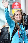 Aankomst  bij de openingswedstrijd van WEURO2017, het EK voetbal vrouwen gehouden in de Stadion Galgenwaard Utrecht<br /> <br /> Op de foto: Desiree van Lunteren