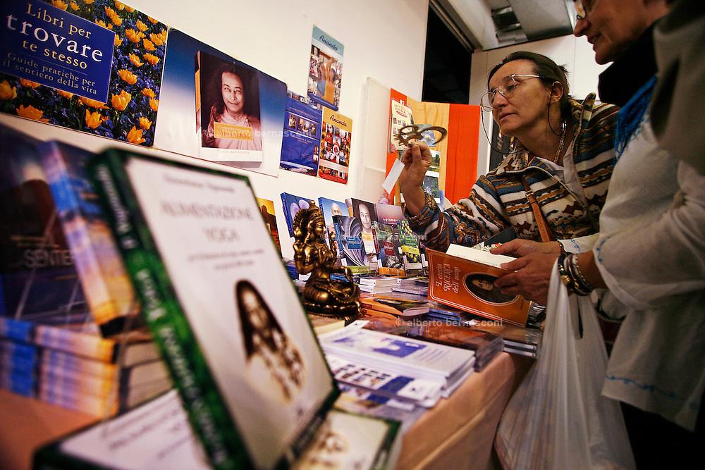 ....Milan, yoga festival, book stall