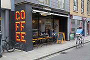 A trendy coffee shop along Bermondsey Street on 13th October 2015 in London, United Kingdom.