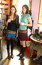 Left to right, ROSE HANBURY and LADY LAURA CATHCART at a launch preview sale of Nathalie Hambro's new line of fashion accessories 'Full of Chic' held at her home 63 Warwick Square, London SW1 on 5th May 2005.<br />