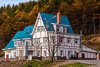 Russia, Sakhalin, Yuzhno-Sakhalinsk. House at Gorny Vozdukh Ski center.