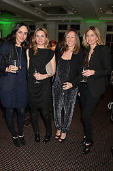 Left to right, AMPARO CORSINI, CARLA POLO, CRISTINA SAINZ and TATIANA SALINAS at a film screening in aid of the charity Women for Women held at BAFTA, 195 Piccadilly, London on 26th February 2014.